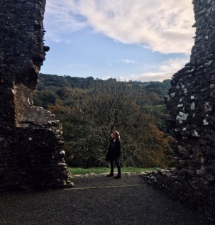 Anna at Oakhampton Castle